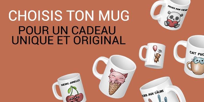 "Banderole ""choisis ton mug original"""
