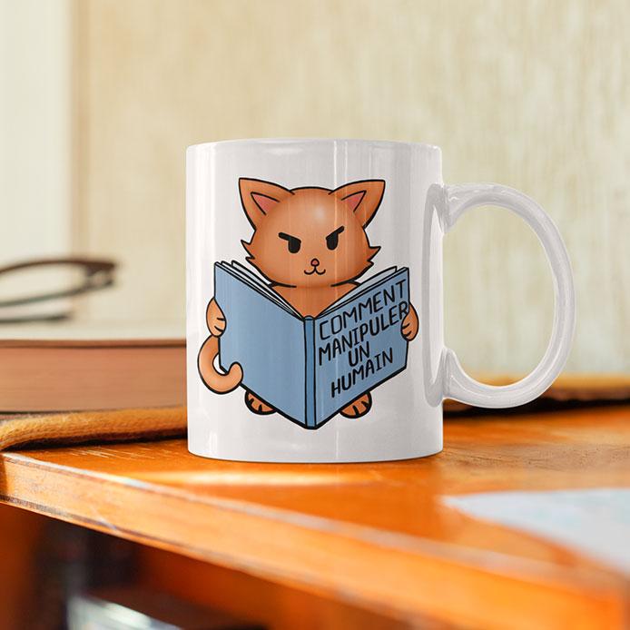 Humour chat sur un mug