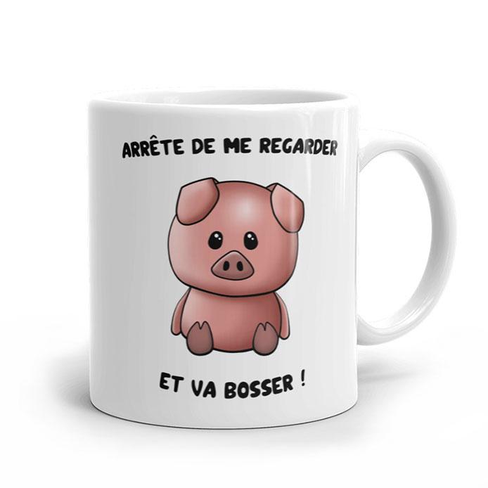 Un mug original cochon, un dessin de cochon adorable