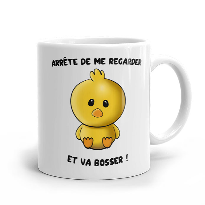 "Collection ""va bosser"" poussin adorable jaune"