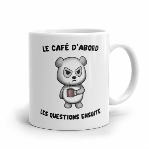 Mug humour de café et de panda