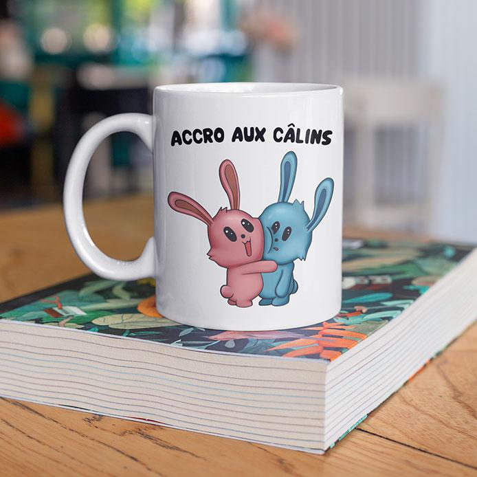 Illustration de lapins qui s'aiment