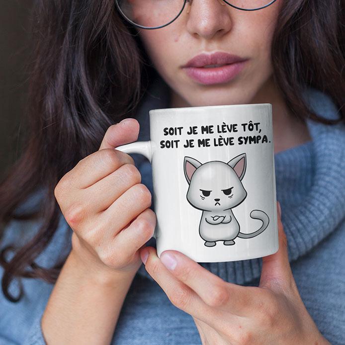 Mug avec un texte drôle