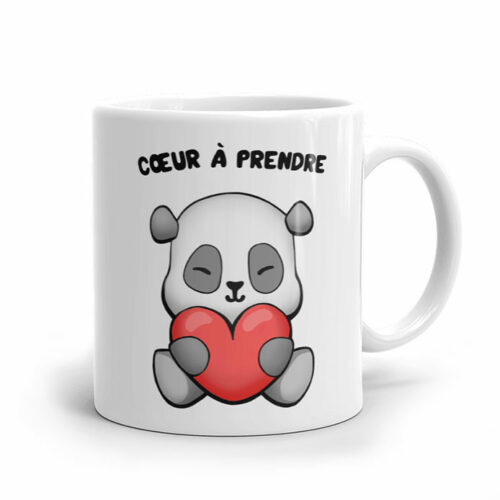 Un mug de panda amoureux