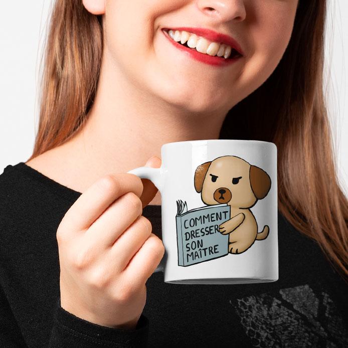 Mug original humour avec un chien drôle